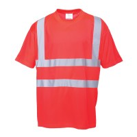 T-shirt Hi-Vis rouge PORTWEST
